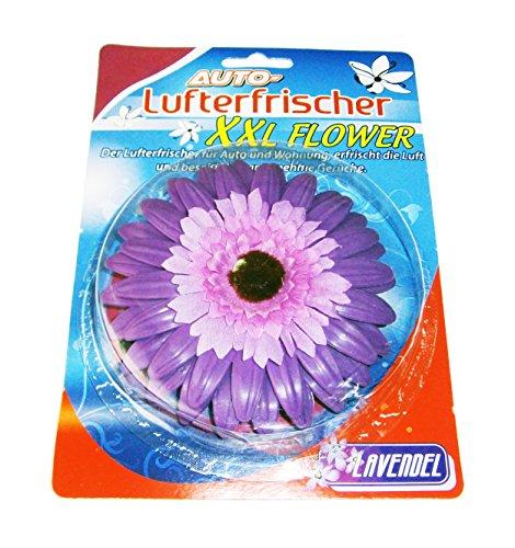 Eco Auto LUFTERFRISCHER XXL Blume 3 Duftnoten Autoduft Autoparfüm Duftspender 80 (Lavendel) (Lavendel-home-duft)