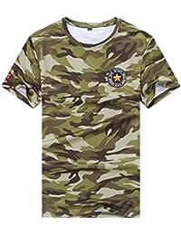 Men/'s Duke Camo Short Sleeve V-Neck Camouflage Designer Loose Fit T-shirt Tee