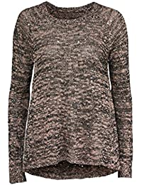 TopsandDresses - Gilet - Pull - Col Ras Du Cou - Manches Longues - Femme