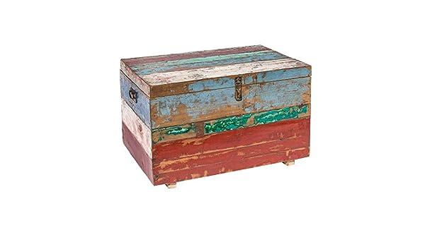 Lola Home Coffre Table de Teck recyclé Marron Ethnique pour ...