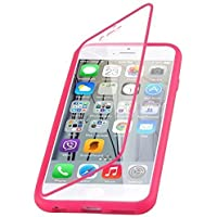iPhone 6 / 6s Plus Silikonhülle | JAMMYLIZARD 360 Grad Schutzhülle Silikon Case Backcover Hülle und Displayschutz Flip Cover Komplett-Handyhülle, Pink