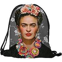 Frida Mochila con cordón para Mujer y niña, Bolsa de Gimnasio para natación, Bolsa de Escuela, Mochila de Viaje(C)