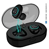 Bluetooth 5.0 Headset【Verbesserte Version】Stillcool Bluetooth Kopfhörer Kabellos in Ear mit Noise Cancelling, Bluetooth True Wireless Earbuds mit Mikrofon für iPhone und Android Smartphone