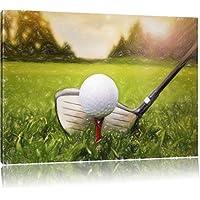 Golfabschlag Bunstift effetto, formato: 120x80 su tela,