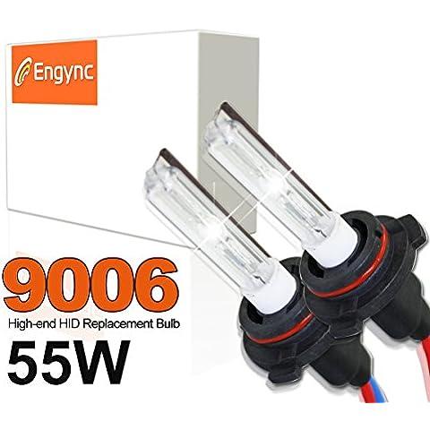 Engync® 55W aggiornato 9006 HID Xenon lampadine di ricambio con anima in ceramica | Hi / Low 10000K