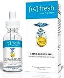 Peeling-Quimico Facial de ácido-Láctico 10% AHA-Serum Anti-Envejecimiento - Naturalmente derivado de soja - un exfoliante de cara que mejora las líneas finas y las arrugas 30ml