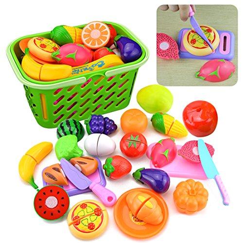 TXXCI 23Stk haushaltsspielzeug kinder lebensmittel spielzeug set lebensmittel spielzeug set zum schneiden lebensmittel spielzeug stoff lebensmittel spielzeug set fleisch