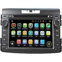 2 Din 7 pulgadas Coche Estéreo con GPS Navegación Android 5.1.1 Lollipop OS para Honda CRV 2012 2013 2014,Pantalla Táctil Capacitiva con 1.6G de la Cortex A9 Quad Core CPU 16G y 1G DDR3 RAM Flash 1024x600 Radio DVD 3G/WIFI OBD2 Aux Entrada USB/SD DVR