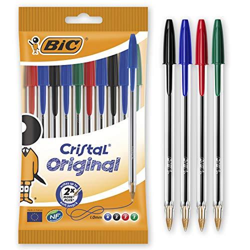 Bic Cristal Original Punta Media 1 mm Confezione 10 Penne Colori Assortiti