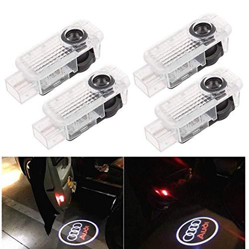 Cool Design 4er Pack Autotür Logo Projektion Licht Türbeleuchtung Willkommen Licht (4PC)