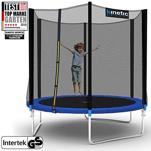 Kinetic Sports Outdoor Trampolin TPLH08 Gartentrampolin für Kinder und Erwachsene mit Randabdeckung und Sicherheitsnetz Ø 250 cm
