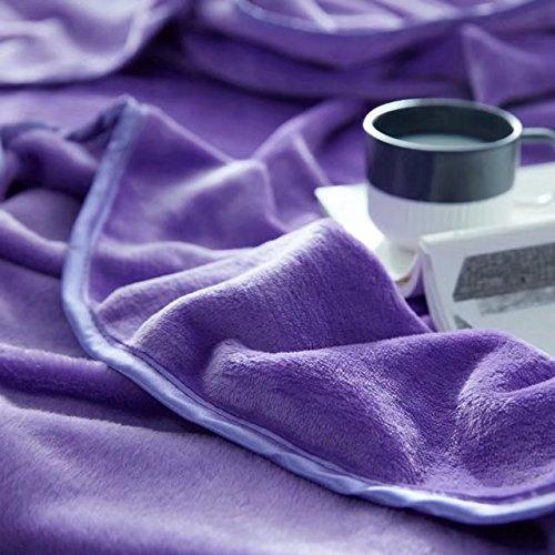 shinemoon Home beddinng Super flauschig weich Plüsch Fleece Decke wirft für Bett Sofa Farbe Outdoor Camping Reisen Decken-King Größe, violett, 180x200cm