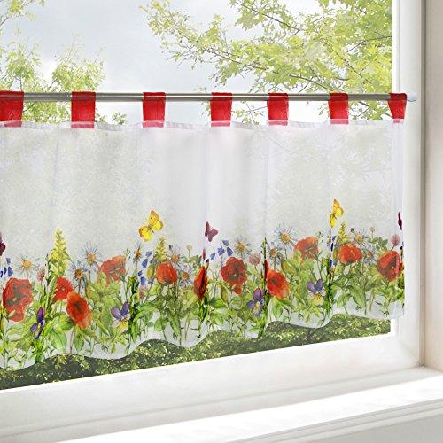 Tenda per finestre PRATO DI FIORI, adatta a cucina, bagno e salotto ...