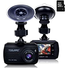 TOGUARD Mini Full HD 1080P Cámara De Coche, Dash Cam Gran Ángulo DASHCAM , G-sensor, Registro Continuo - Una Tarjeta Micro SD 16 GB Incluidas