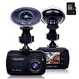 TOGUARD Mini Telecamera per Auto Dash Cam Blackbox Full HD 1080P, DASHCAM Grandangolo, Capteur-G, Registrazione Continua - Una Scheda Micro SD 16 GB Inclusi