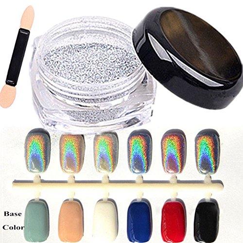 shyyymaoyi Glitzerpuder für Frauen mit glänzenden Pigmenten, Glitzerpuder, DIY Nagelkunst, Dekoration, Zubehör (Frauen-nagel-kit)