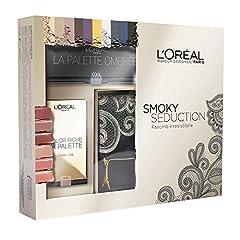 Idea Regalo - L'Oréal Paris Cofanetto Edizione Limitata Smoky Seduction Confezione Regalo con Pochette, Palette Ombrèe e Palette Labbra Color Riche
