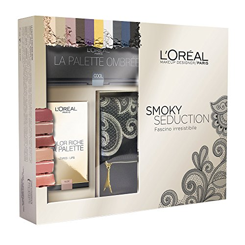 L'Oréal Make Up Designer Paris Cofanetto Smoky Seduction con Pochette, Palette Ombrèe e Color (Palette Designer)