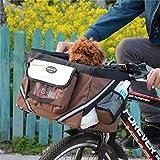 IW.HLMF Pet Carrier Fahrradkorb Fahrradlenker klein mit Taschen für Hundefestlichkeit
