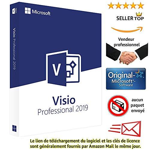 Visio 2019 Microsoft Professional Plus - Licence perpétuel - Pas d'abonnement - Licence numérique originale Envoyé dans un jour par courrier électronique depuis Amazon - seulement pour windows 10