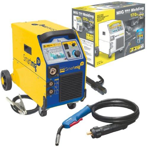 Preisvergleich Produktbild GYS Schutzgasschweißgerät 170 A, einphasig 230 V, gelb, Smartmig 3P