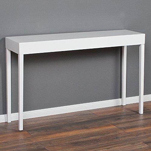 Design Konsolentisch LINO-C 120cm Lack-Konsole hochglanz weiß