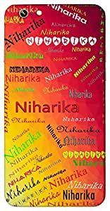 Niharika (Admired for looks) Name & Sign Printed All over customize & Personalized!! Protective back cover for your Smart Phone : Samsung Galaxy Note-5