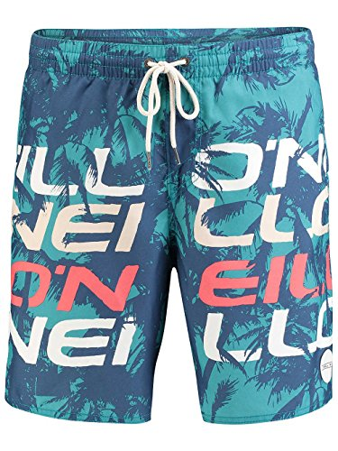 O'Neill Herren Stacked 3 Shorts Boardshorts green aop