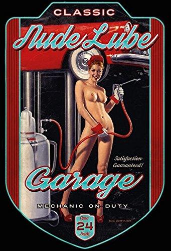 Schatzmix Pinup/pin up Nude Lube Garage Auto blechschild