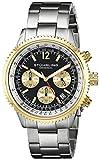 Stuhrling Original - Monaco - 669B.04 - Montre bracelet - Quartz - Affichage - Analogique - Bracelet - Acier inoxydable - Argent - Cadran - Noir - Homme