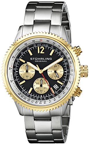 Stuhrling Original 669B.04 - Reloj de pulsera hombre, acero inoxidable, color plateado