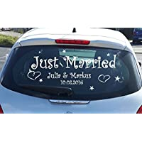 Autoaufkleber Just Married mit N