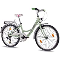 60,96 cm aluminio CITY BIKE bicicleta para niñas infantil CHRISSON RELAXIA con 7 de