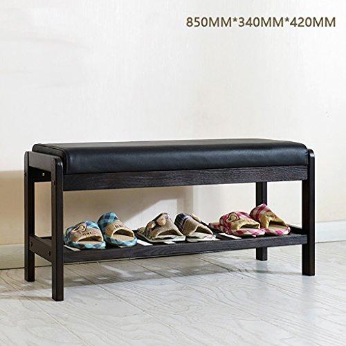 Étagère à chaussures en bois massif, salon chambre chaussures tabouret, chêne chaussures de haute qualité tabouret, banc de chaussures lit queue (taille : 850 * 340 * 420mm)