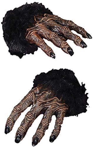 n Kostüm Gorilla AFFE Hände Braun Halloween Kostüm Handschuhe ()