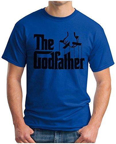 OM3 - THE GODFATHER - T-Shirt Mafia Trilogie Marlon Brando Chicago New York America USA Kult Geek, S - 5XL Royalblau