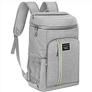 Neusky Wasserdicht kühltasche Rucksack Picknickrucksack für Camping und Wandern (Grau)