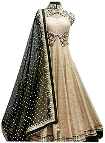 Indian Designer Bridal Cream Salwar Suit New Collection