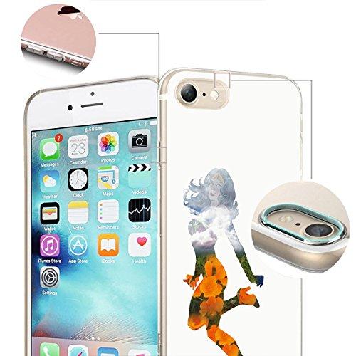 finoo | iPhone 6 / 6S Weiche flexible lizensierte Silikon-Handy-Hülle | Transparente TPU Cover Schale mit Wonder Woman Motiv | Tasche Case mit Ultra Slim Rundum-schutz | Every Mom Joy Flowers