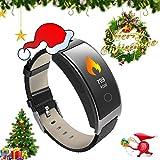 ZEERKEER Smart Watch Aktivitäts-Tracker mit Pulsmesser, IP67 Wasserdichtes Smart-socken mit Kalorienzähler, Blutdruckmessgerät, Schrittzähler für Damen und Herren (Schwarz)