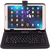 I KALL N1(2+16GB) Dual Sim 4G Volte Calling Tablet 8 Inch Display with Keyboard Cover,Golden