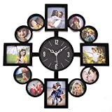 #9: large wall clock with photo frame (Black)