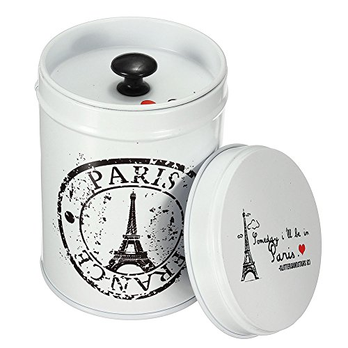 chuangli rund Tee Dosen Mini Metall Candy Schmuckkästchen Dose Colorful home Kitchen Vorratsdosen & Gläser Eisen Tower Pattern