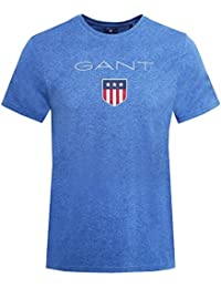 Gant Men's Crew Neck Shield Logo T-Shirt Denim Blue