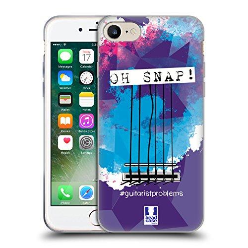 Head Case Designs Plettro Problemi Di Chitarra Cover Morbida In Gel Per Apple iPhone 7 / iPhone 8 Corde
