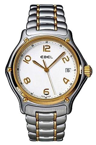 Ebel - 1911 - Montre Homme - 1187241-16665P - Acier et Or 750/1000 - Quartz Analogique - Cadran Blanc - Dateur - Bracelet Bicolore