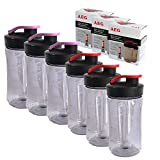 AEG ASBEB2 Mini Mixer Extra-Flaschen geeignet für PerfectMix Mini Mixer SB 2400/SB 2700/SB4PS, AEG Zusatz Flaschen Premium Vorteilspack 3 x 2er Pack