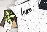 Hype Bettwäsche-Set mit passenden Kissenbezügen, Motiv: schwarze und weiße Flecken, hochwertiger Druck, 100 % Baumwolle, superweiches Material, baumwolle, weiß, Doppelbett für Hype Bettwäsche-Set mit passenden Kissenbezügen, Motiv: schwarze und weiße Flecken, hochwertiger Druck, 100 % Baumwolle, superweiches Material, baumwolle, weiß, Doppelbett