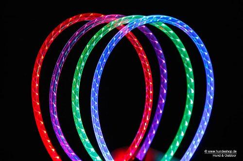 Wolters Leuchthalsband Nightshift blau, Größe:Größe L