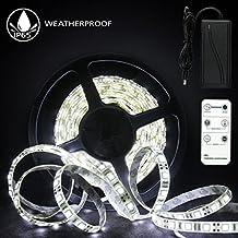 LED Streifen 5m Kaltweiß, Anten 600 LED Lichtleiste LED Strip Lichtband  IP65 Wasserdicht 2835 Mit